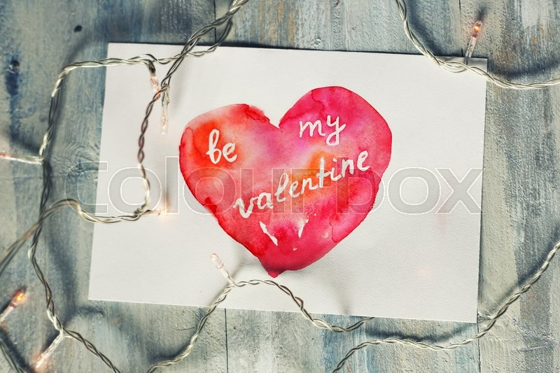 Stock image of 'Hand drawn st Valentine's day greeting card'