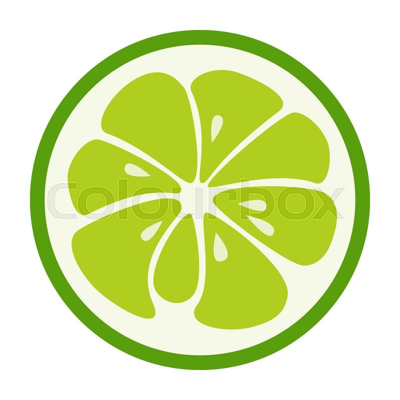Stock image of 'Green lime logo. Logotype for citrus company. Refreshing yummy tropical summer fruit. Cocktail ingredient. design illustration'