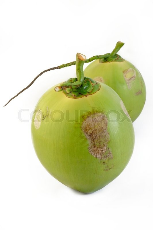 Stock image of 'fresh young coconut on white background'
