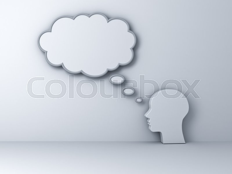 Stock image of 'Thinking concept. 3D rendering.'