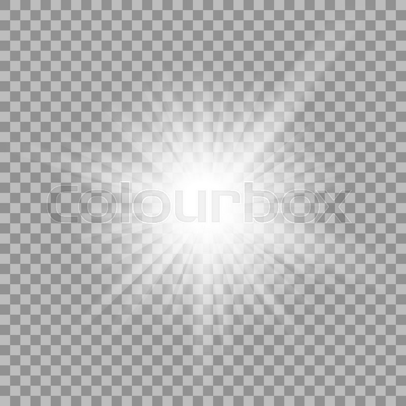Stock image of 'White glowing light burst explosion with transparent. illustration for cool effect decoration with ray sparkles. Bright star. Transparent shine gradient glitter, bright flare. Glare texture.'