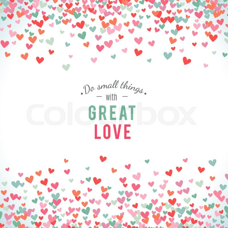 Stock image of 'Romantic pink and blue heart background. illustration for holiday design. Many flying hearts on white background. For wedding card, valentine day greetings, lovely frame.'