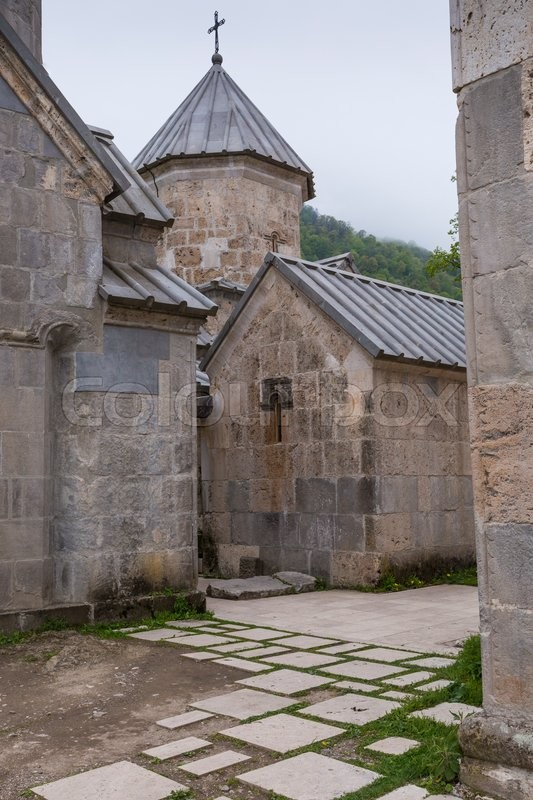 Editorial image of 'The ancient Haghartsin monastery is located near the town of Dilijan, in a wooded valley. Armenia'
