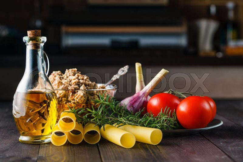 Stock image of 'mediterranean cuisine. ingredients for making cannelloni'