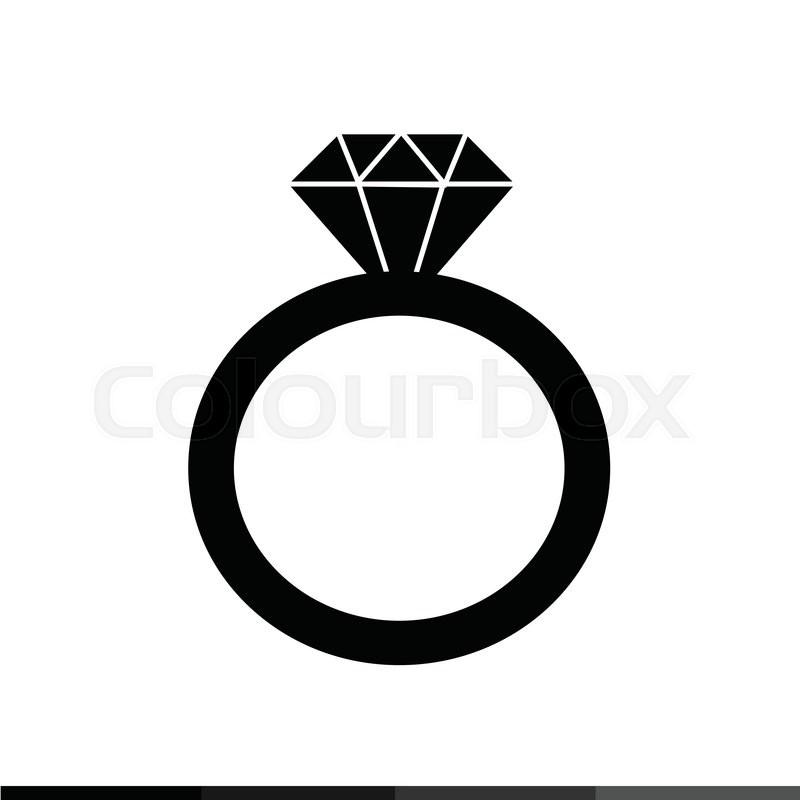 Diamond Ring Icon Illustration Design Stock Vector Colourbox