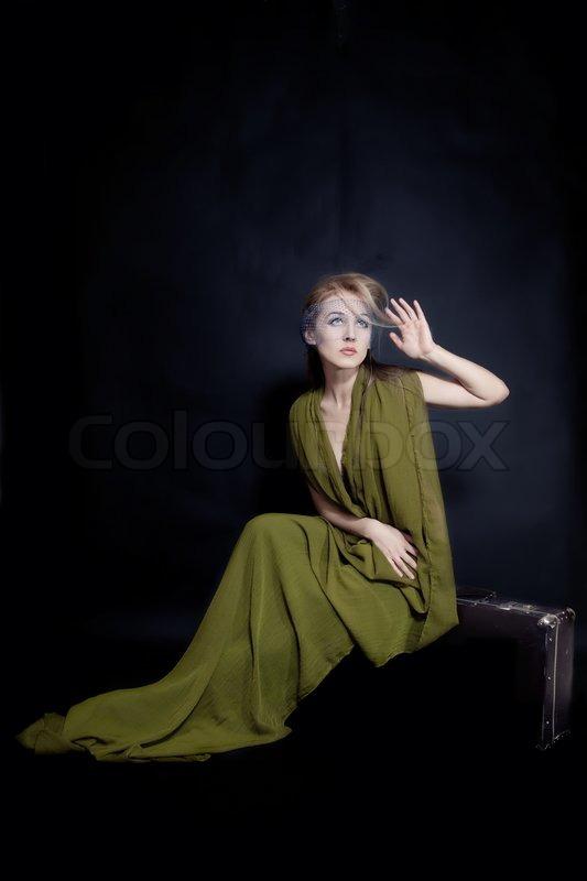 Sitting in Dress