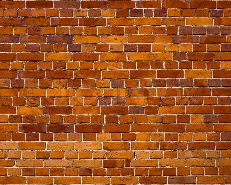 Sharp And Colorful Brick Wall Of 19th Century Stock