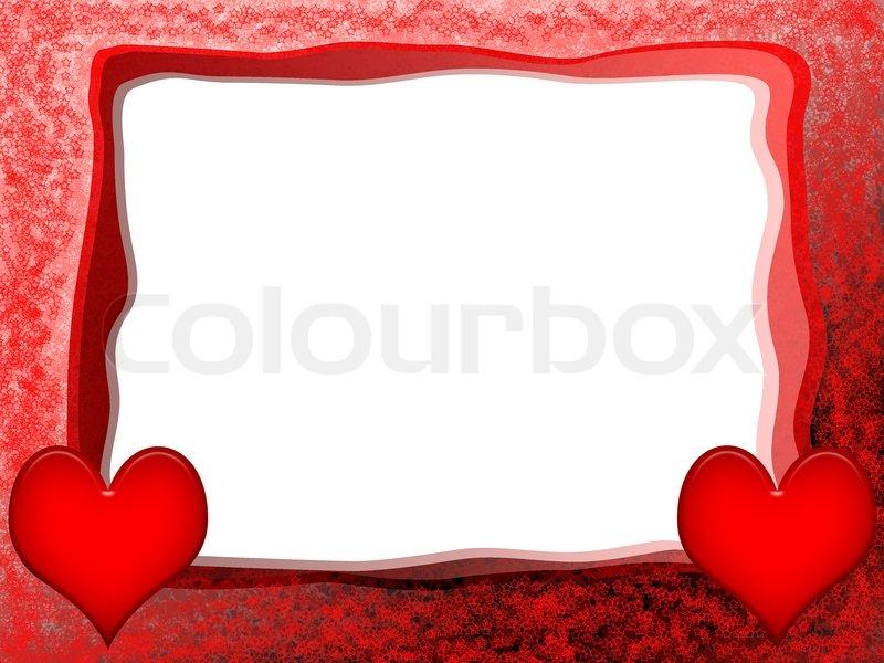 Love -Rahmen mit roten Herzen | Stockfoto | Colourbox