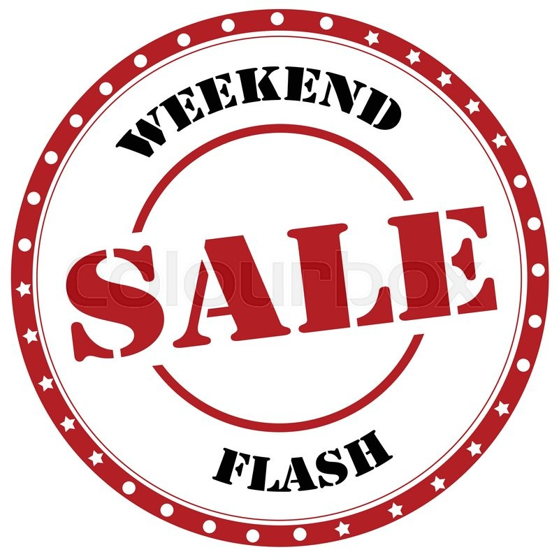 Selling Weekend: Stamp With Text Weekend Flash-Sale,vector Illustration