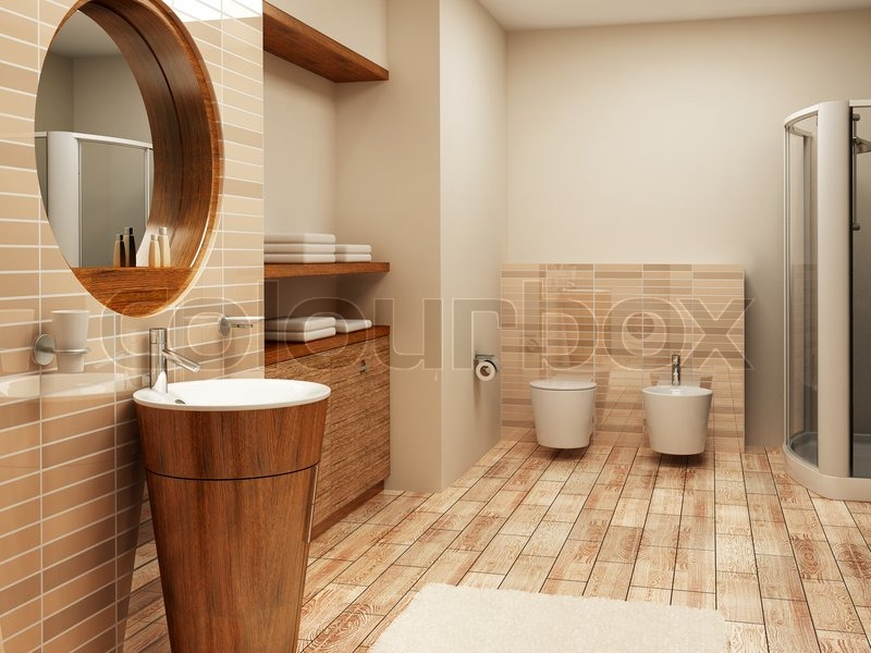 3d rendering of the modern bathroom interior | Stock Photo | Colourbox