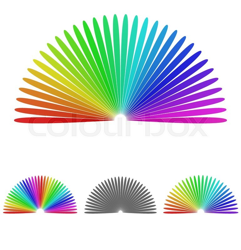 rainbow half circle logo vector half circle icon symbol design