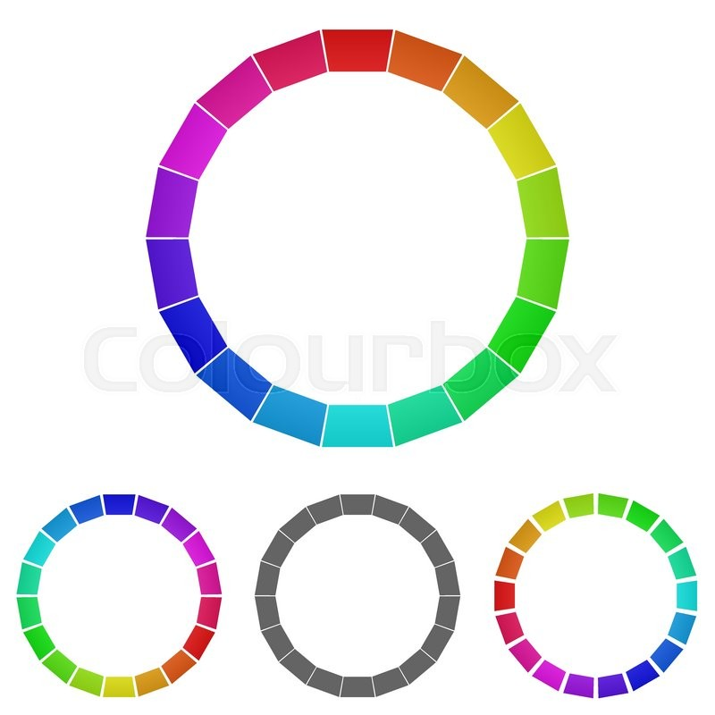 Rainbow ring logo vector. Ring icon symbol design template set for ...