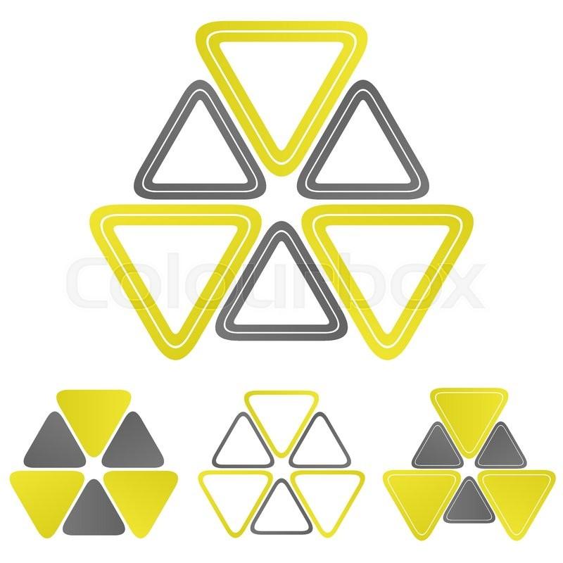 Nuclear Triangle Logo Vector Nuclear Icon Symbol Design Template