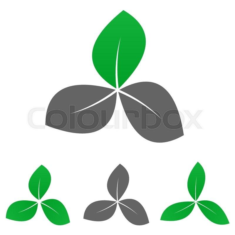 Green Garden Logo Vector Garden Icon Symbol Design Template Set For
