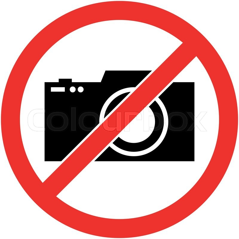 no photography camera prohibited symbol sign indicating. Black Bedroom Furniture Sets. Home Design Ideas