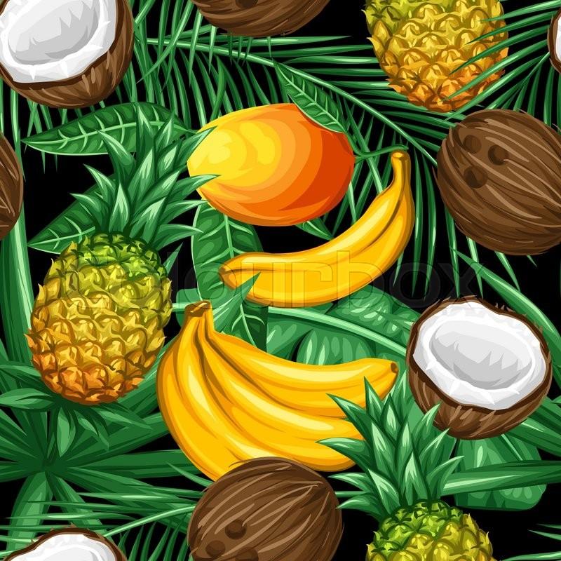 palme ananas pflanze vektorgrafik colourbox. Black Bedroom Furniture Sets. Home Design Ideas