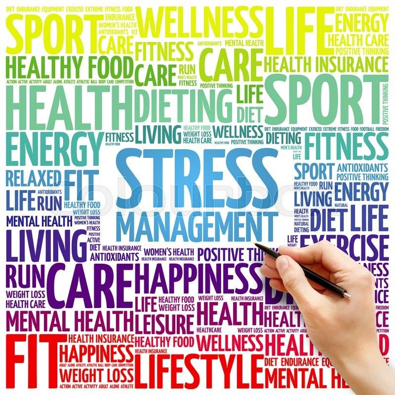 Stress Management word cloud ...   Stock Photo   Colourbox