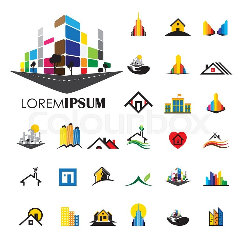 Home And House Building Architecture Vector Logo Icons Building