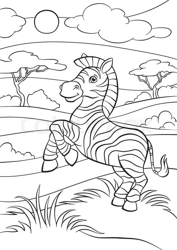 Cartoon Wild Animals For Kids Little Stock Vector Colourbox
