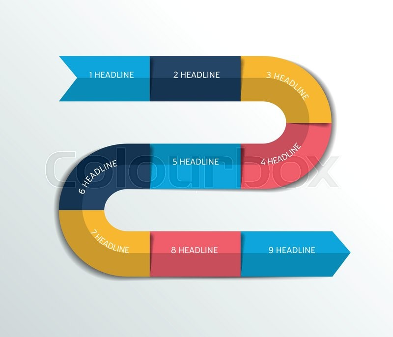 process infographics options banner template scheme chart text