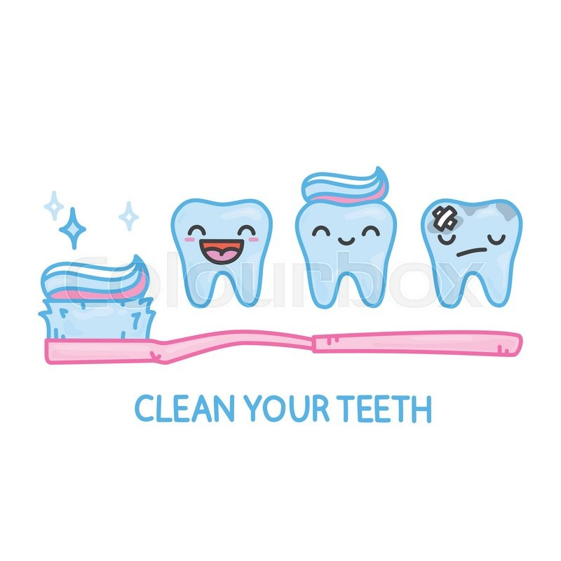 Kids Toothpaste And Toothbrush Teeth and toothbrush k...