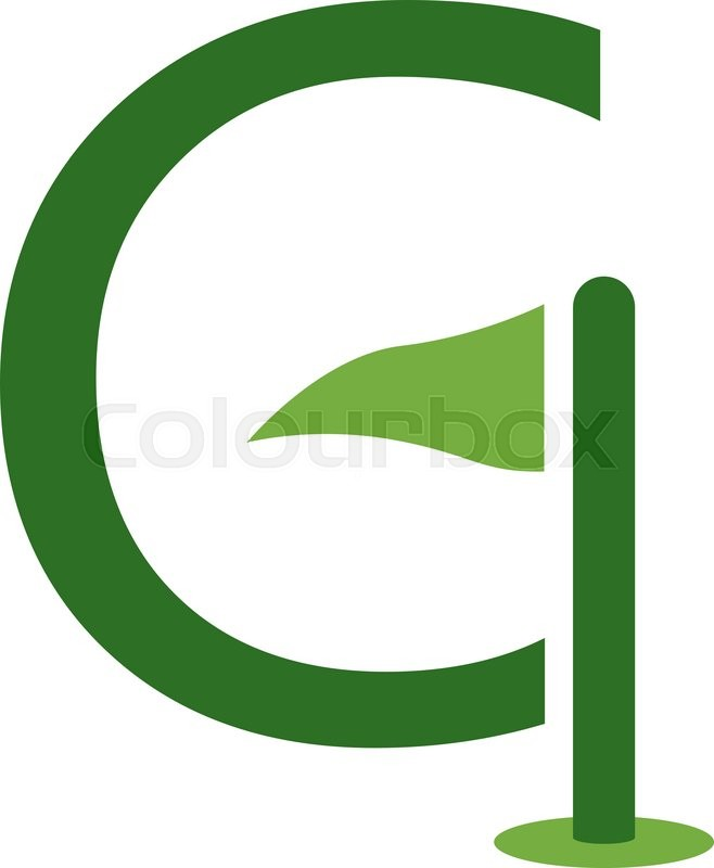 Letter g and golf logo or icon design template element stock letter g and golf logo or icon design template element stock vector colourbox maxwellsz