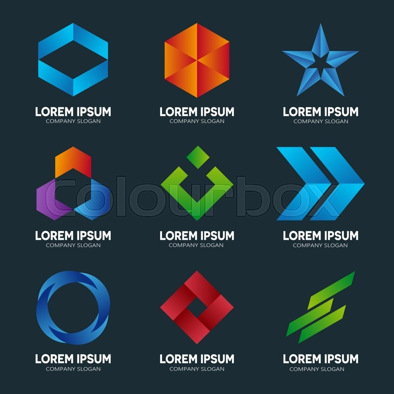 set of abstract logo design template abstract logo swirl logo