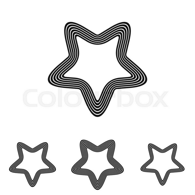 Black Line Satanic Symbol Logo Design Set Stock Vector Colourbox