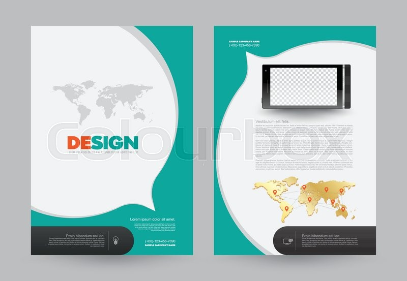 Cover Annual Report Leaflet Brochure Flyer Template A Size Design - Brochure flyer templates
