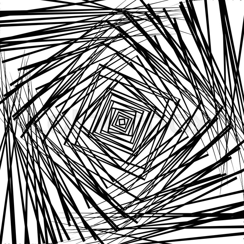 Random Chaotic Squares Rotating Intersecting Squares Abstract New Angular Pattern