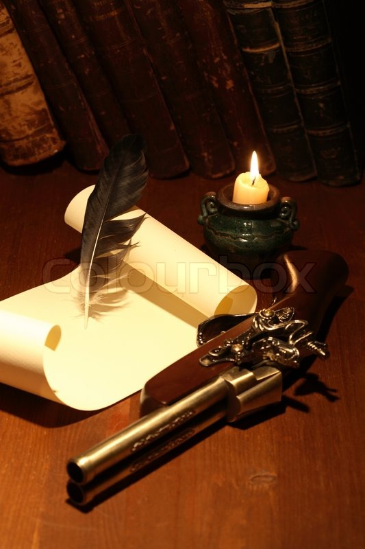 quill pen and scroll - photo #29