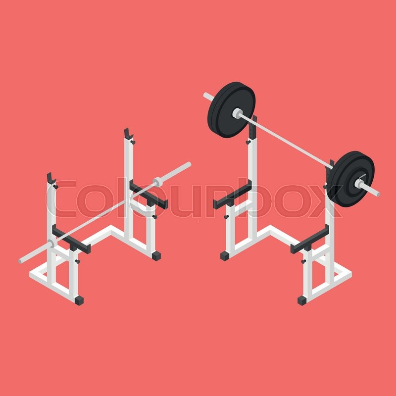 Isometric Exercise Equipment 1962: Barbell Squat Stand. Power Rack. Holder Bench For Barbell
