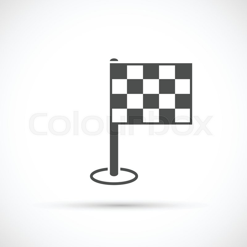 finish flag icon competition symbol the finish line stock vector
