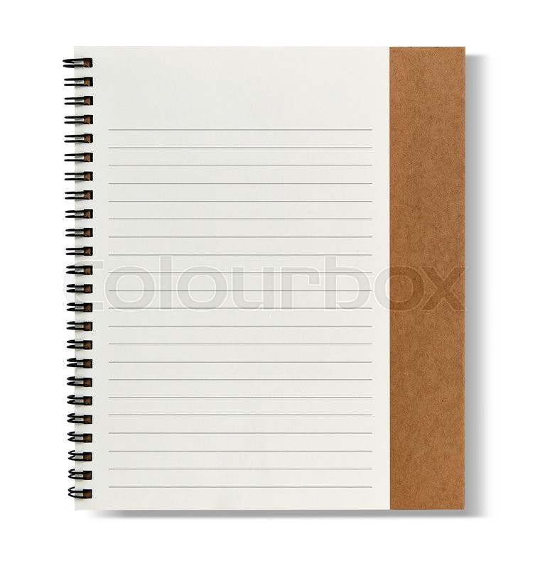 Stock image of 'Recycle paper notebook right page'