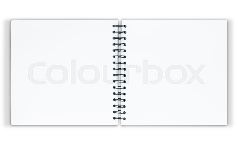Stock image of 'The notebook is on white background with clipping path'