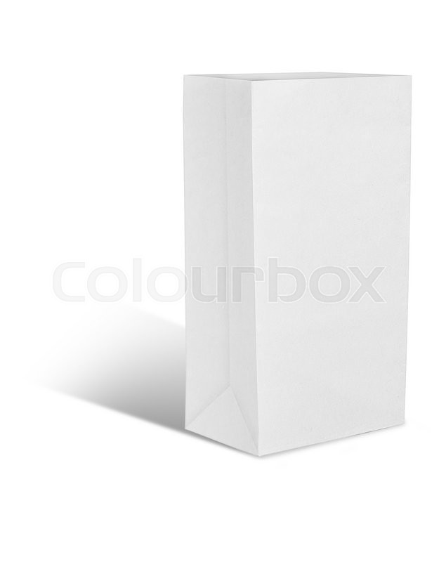 Stock image of 'Recycle white paper bag'