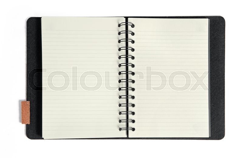 Stock image of 'Isolated notebook on white background'