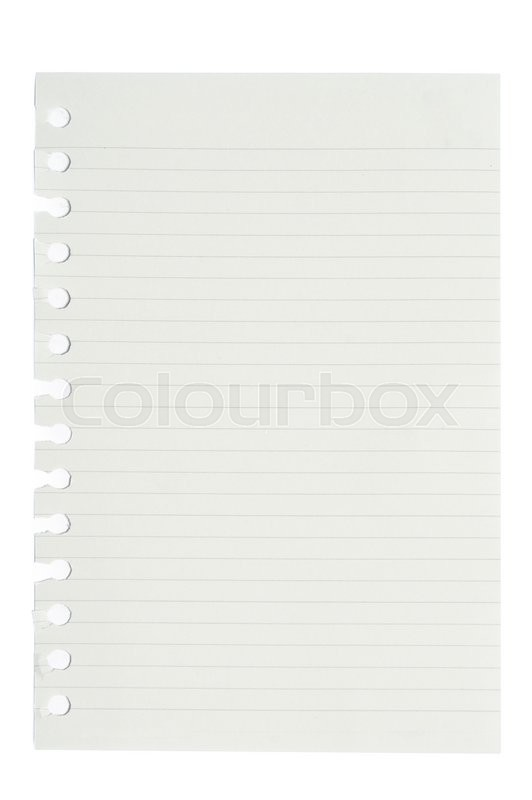 Stock image of ' blank squared and lined notepad pages'