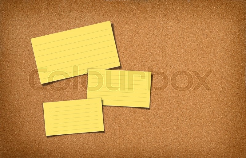 Stock image of 'cork board with notes '
