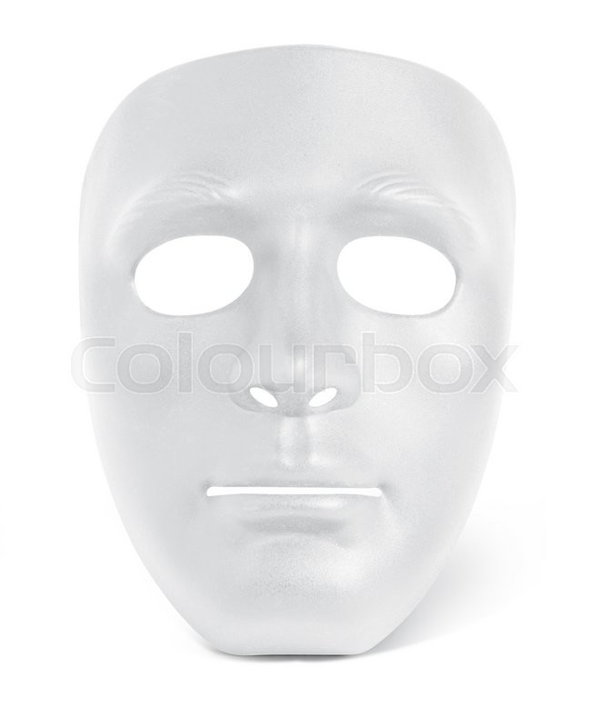 Stock image of 'Half mask black and white'
