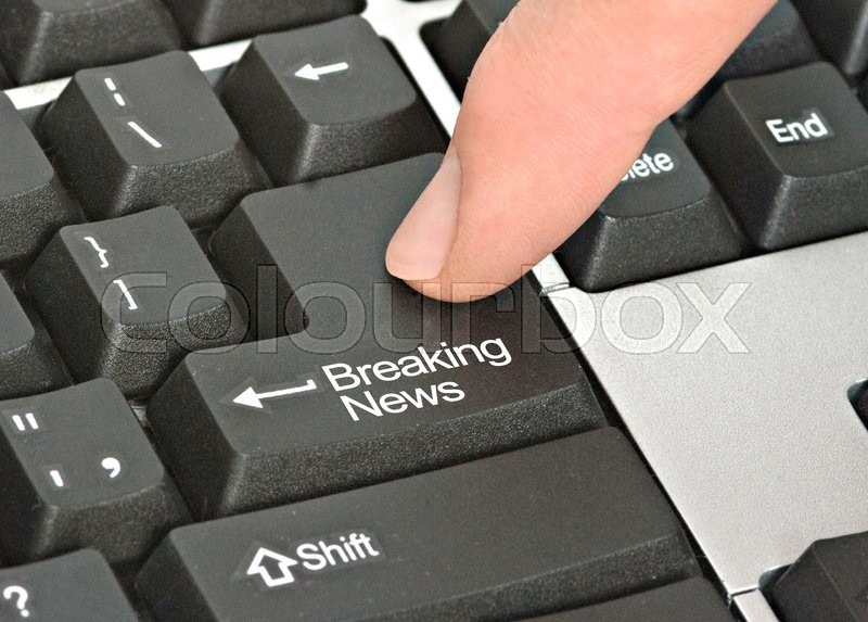 Stock image of 'Keyboard with hot key for breaking news'