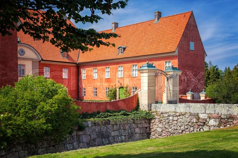 Stock image of 'Image of the renaissance castle of Krapperup, Sweden. '