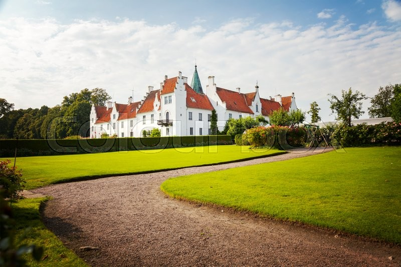 Stock image of 'Image of the historic monastery of Bosjokloster, Sweden. Popular tourist destination. '