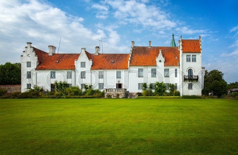 Stock image of 'Image of the castle and convent of Bosjokloster, Sweden. Popular tourist destination. '