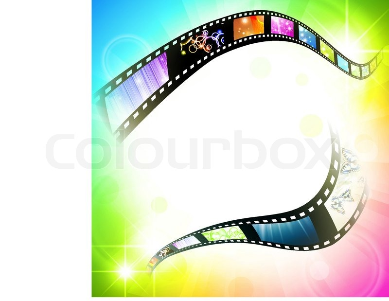 Film Frame With Different Subjects Stock Vector Colourbox