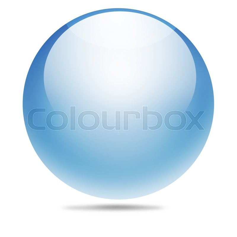 Stock image of 'Transparent ball made from photoshop'