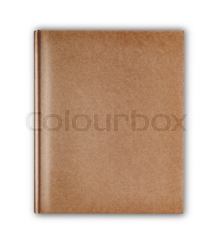 Stock image of 'Cover old style recycle brown notebook isolated on white background'