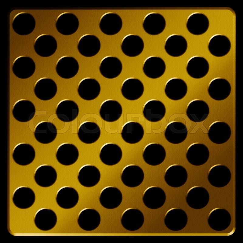 Stock image of 'Gold Metal plate , abstract background'
