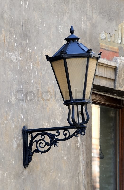 Stock image of 'Old wall lamp street lighting.'