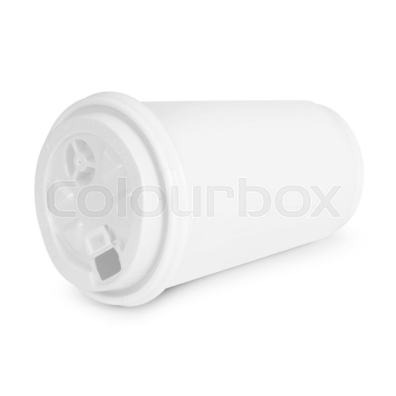 Stock image of 'Recycling paper glass on white background'